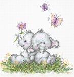 """Набор для вышивания """"Пара слоников"""""""