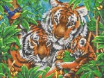"Канва с рисунком ""Тигры"""