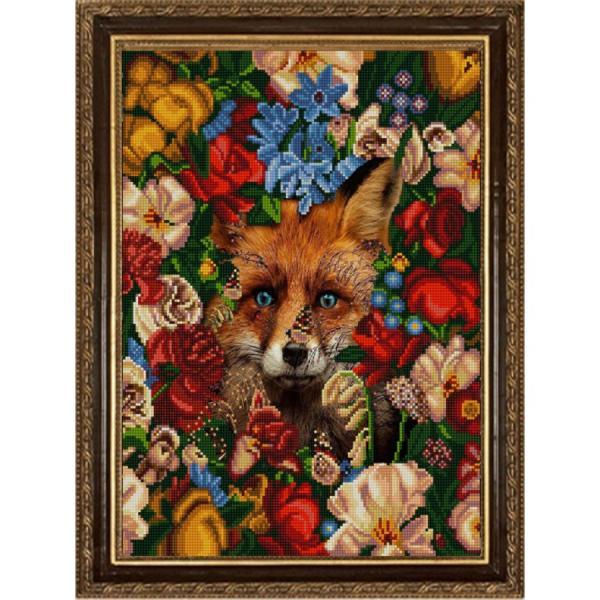 """Ткань с рисунком """"Природа и звери. Лиса"""""""