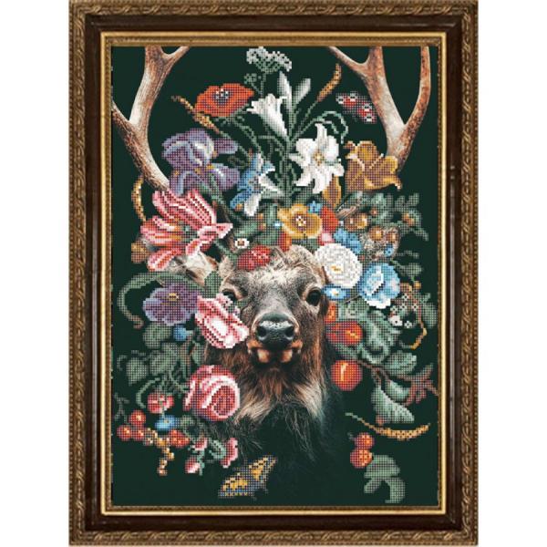 """Ткань с рисунком """"Природа и звери. Олень"""""""