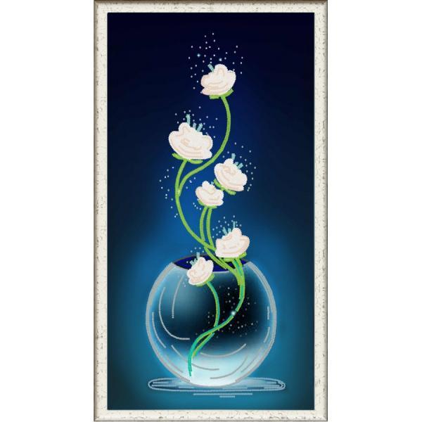 """Ткань с рисунком """"Изящные цветы"""""""