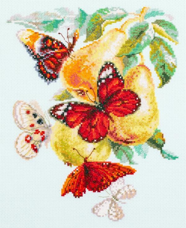 """Набор для вышивания """"Бабочки на груше"""""""