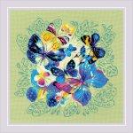 """Набор для вышивания """"Панно/подушка «Яркие бабочки»"""""""
