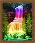 """Алмазная мозаика """"Радужный водопад"""""""