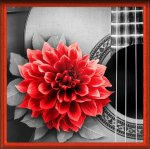 "Алмазная мозаика ""Цветок на гитаре"""