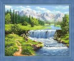 """Алмазная мозаика """"Полдень у реки"""""""