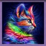 """Алмазная мозаика """"Разноцветный котенок"""""""