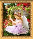 """Алмазная мозаика """"Ангел в саду"""""""