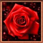 """Алмазная мозаика """"Сверкающая роза"""""""