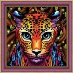 """Алмазная мозаика """"Радужный леопард"""""""