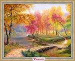 """Алмазная мозаика """"Осень в старом парке"""""""