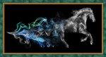 """Алмазная мозаика """"Конь в дыму"""""""