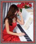 "Алмазная мозаика ""Пианистка"""