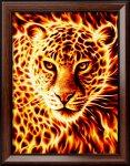 """Алмазная мозаика """"Огненный леопард"""""""