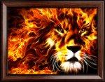 """Алмазная мозаика """"Огненный лев"""""""