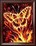 "Алмазная мозаика ""Огненная бабочка"""