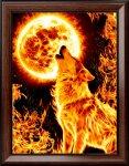 """Алмазная мозаика """"Огненный волк"""""""