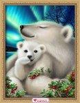 "Алмазная мозаика ""Белые медведи"""