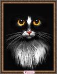 """Алмазная мозаика """"Черный кот"""""""