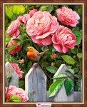 """Алмазная мозаика """"Птичка в саду"""""""