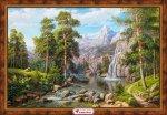 """Алмазная мозаика """"Пейзаж с водопадом"""""""
