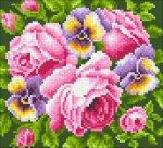 """Алмазная мозаика """"Розы и анютины глазки"""""""