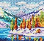 """Набор для вышивания """"Осень в горах"""""""