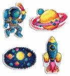 """Набор для вышивания """"Космос. Магниты"""""""